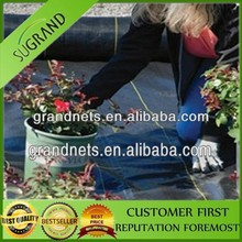 Weed control fabric ground cover landscape