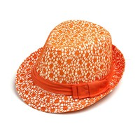 custom fashion baby children kids lace joint Fedora straw hat formal hat with bow ribbon