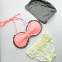 2015 new design of children Bikini,3 pieces of kids swimwear,baby swimsuit,girls beach bikini