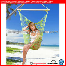 rope hammock rope chair with wood promotion swing