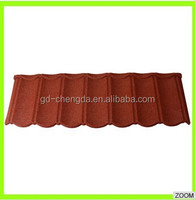 Ceramic stone coated metal roofing tiles / No stone peeling roof / No coloration roof tiles