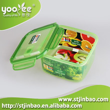 Watertight Vented Plastic Food Container with four sides lids Wholesale