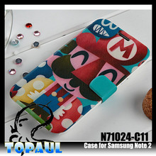 Customized Colored Drawing Super Mario Case for Samsung Galaxy Note2, Any Phones