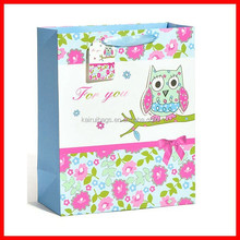 white cardboard material cheap craft low cost satin gift bag