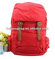 2012 the fashionback Korean nylon red school bag