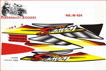 good quality water proof colorful motorcycle sticker design for Honda WAVE 100S 2003