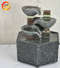 New natural slate water-drop table-top fountain with polished river stones