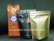 manufacture supplier green coffee tea bags with ziplock and degassing valve