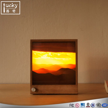 Beautiful Sunset picture insert in the led photo fram/photo fram with led light