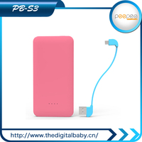 2015 Cheapest! Portable Power Bank 5v 1A 5200mAh for Laptop/ Cellphone charge