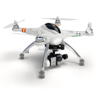 Phantom! 2014 new product!Walkera QRX350 PRO GPS Quadcopter with DEVO 10 White Radio Control& G-2D Camera Gimbal quadcopter UFO