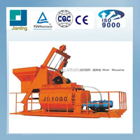 JS1000 concrete mixer used on brick production line, concrete mixing machine