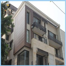 LIJIE brand hpl modern fashion style decorative building facade board and side panel external fireproof wall cladding