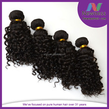 professional factory supply natural black curl brazilian human hair wet and wavy weave