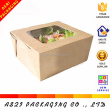 top window open from the side food box packaging for sandwish