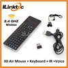 ILINK real phone design wireless mini russian keyboard all in one and air mouse set with voice for smart tv