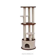 """Dspet 61"""" Three Story Cat Tree Scratching Post Condo Tower - Brown and Beige Pet Products Cat toy"""