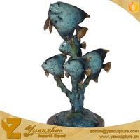 Outdoor Water Features Brass fish sculpture for home decoration