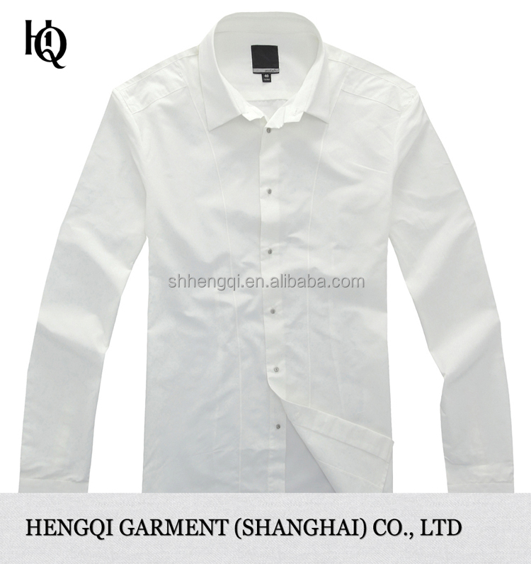 High end mens white dress long sleeve shirt wholesale for High end men s shirts