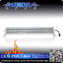 Hot-selling AURORA 6inch double row motorcycle driving led marine led light bar