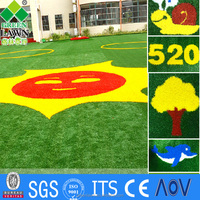 Manufacturing children ground artificial grass for landscaping/fake lawn
