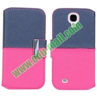 Mixed Color with Card Slots and Holder Leather Flip Case for Samsung Galaxy S4 i9500