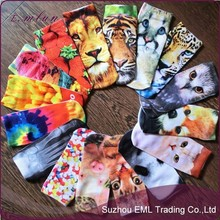 Cartoon 3d printed stereoscopic ankle socks animal printing socks wholesale