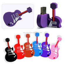 PVC material and violin style music instruments festival promotion item usb flash drive memory with custom logo
