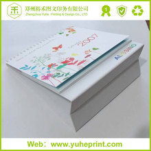 Triangle desk standing factory cheap table business 2016 calendar printing