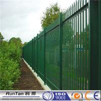 Powder coated galvanized steel euro palisade fence/palisade fencing panels/w pale fencing