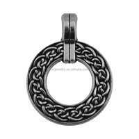 Free Shipping Lead Free Nickle Free New Design Double Sides Antique Silver Color Zinc Alloy Jewish Jewelry Necklace Pendant