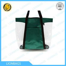 Trendy clear vinyl tote bag