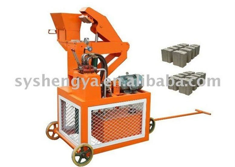 Compressed Earth Block Machine : Sy stabilized compressed earth block making machinery