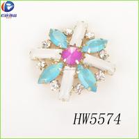 jelly white with 888 rhinestone round flower clip upper shoe decoration
