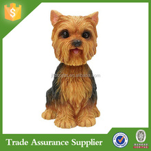 China Wholesale Supplier Resin Yorkshire Terrier Dog Figurines