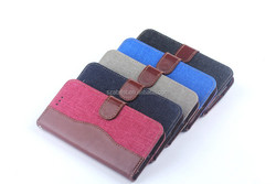 For HTC M9 Leather Pouch, Jean Leather Pouch Case for HTC One M9 Paypal Acceped