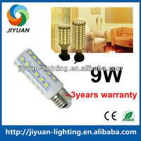 9W Led Corn Light,44pcs leds 12V,E27 high power and lowest price,led pl corn tube