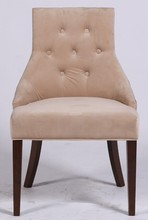 2015 Year Factory offer Fabric Wooden Frame Dining Chair,Modern handle back wooden dining chairs home furniture