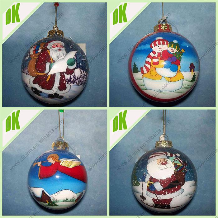 Christmas decor christmas glass ornaments wholesale bulk clear