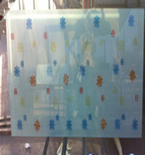 Screen printed heat soaked table top tempered glass