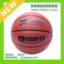 Rubber sporting PU Basketball B5
