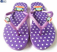 ladies summer cute monkey print PE flat slippers color pictures flip flops