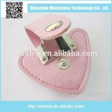 wholesale heart shape leather usb memory stick