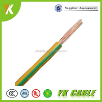 1.5mm 2.5mm 4mm 6mm2 stranded green yellow ground wire