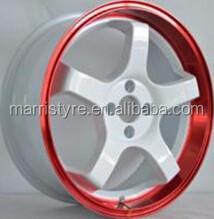 shiny finish colorl aluminum alloy wheels rims