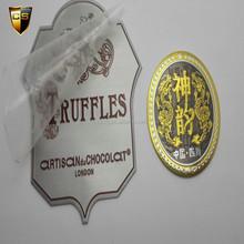 personalizada botella de vino etiqueta de metal