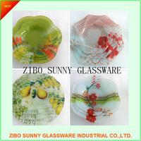 Factory glass plate platter dish