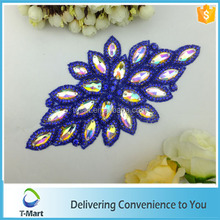 Newest fashion design bead and stone appliques for decoration