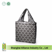 Popular promotional polyester shopping foldable bag with handle,easy carry and use, OEM orders are welcome