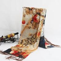 2015 New Design Top Quality Royal Silk Wool Reversible turkish pashmina shawl